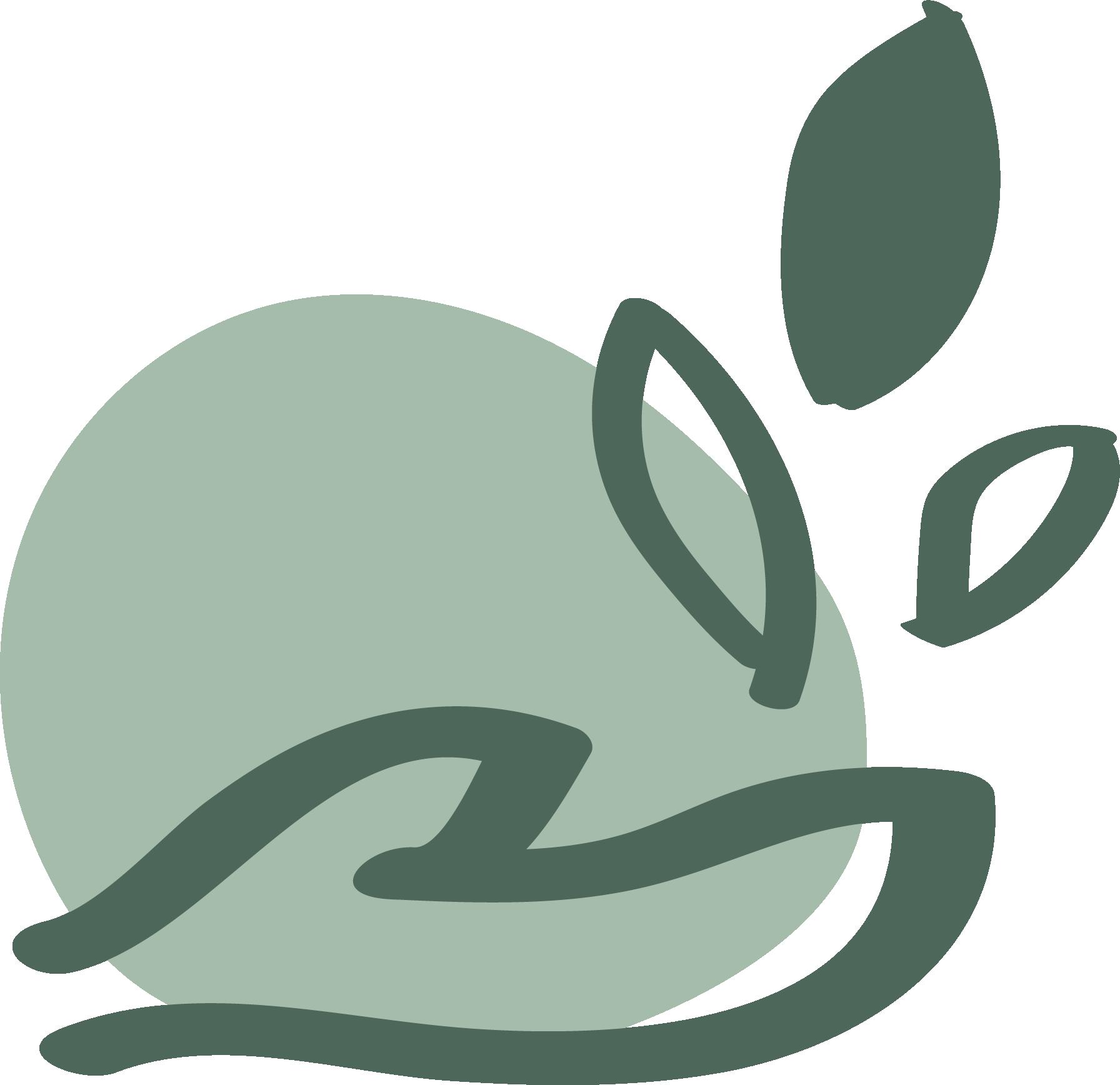 icoon tak met blaadjes en een hand