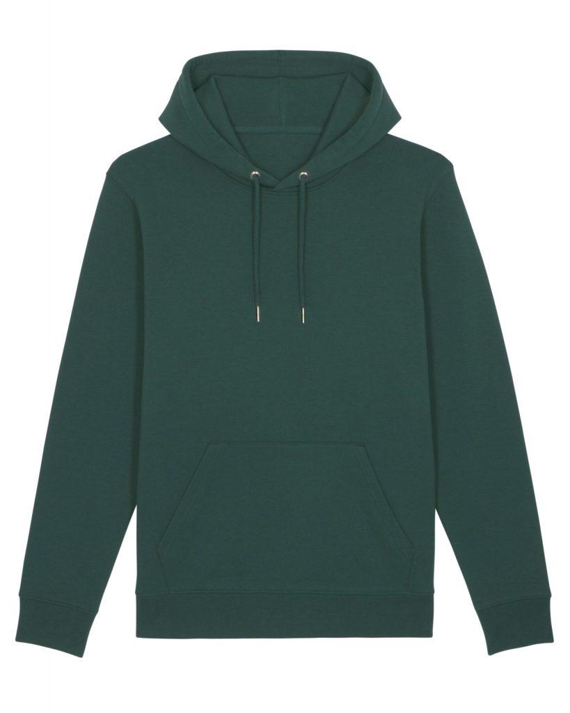 donkergroene hoodie voorkant