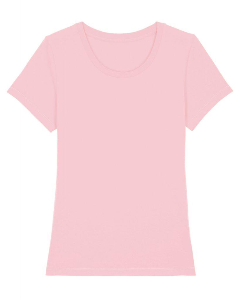 lichtroze dames t-shirt voorkant