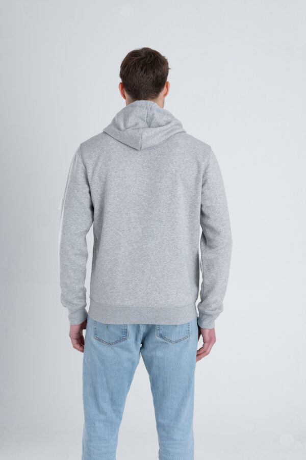 Duurzame hoodie trui Grijs achterkant man